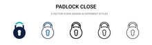 Padlock Close Icon In Filled, ...