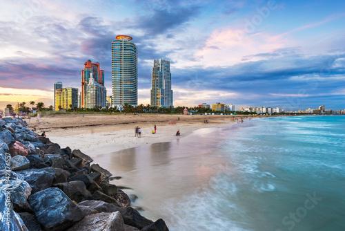 Obraz Miami, Florida at South Beach - fototapety do salonu
