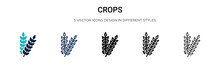 Crops Icon In Filled, Thin Lin...