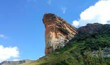 Brandwag (The Sentinel) Sandstone Rock Formation, Golden Gate Highlands National Park, Clarens, Free State, South Africa