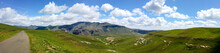 Fluffy Clouds Over Rock Formations In The Golden Gate Highlands National Park, Clarens, Free State, South Africa
