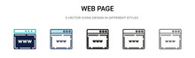 Web Page Icon In Filled, Thin ...