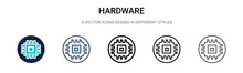 Hardware Icon In Filled, Thin ...