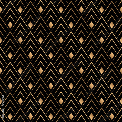 Tapety złote  art-deco-trellis-lines-seamless-pattern-vector-graphic-design