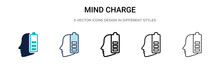 Mind Charge Icon In Filled, Th...