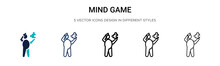 Mind Game Icon In Filled, Thin...