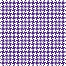 Indigo Purple Houndstooth Patt...