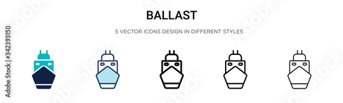 Photo Ballast icon in filled, thin line, outline and stroke style