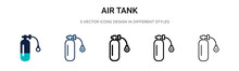 Air Tank Icon In Filled, Thin ...