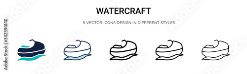 Cuadros en Lienzo Watercraft icon in filled, thin line, outline and stroke style