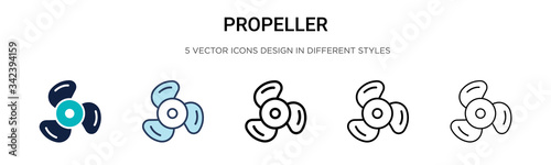 Fotografía Propeller icon in filled, thin line, outline and stroke style