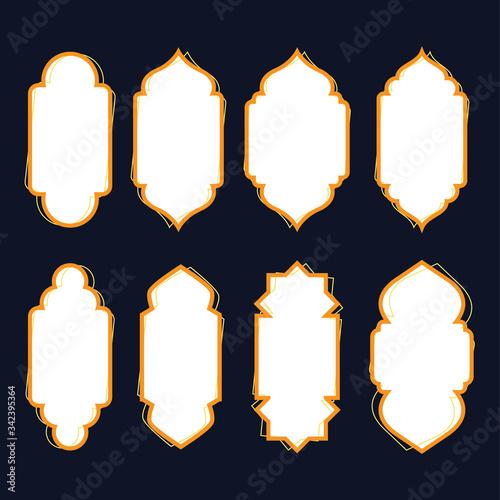 Photo abstract arabic door window vector template, good for islamic frame design template