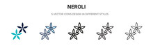 Neroli Icon In Filled, Thin Line, Outline And Stroke Style. Vector Illustration Of Two Colored And Black Neroli Vector Icons Designs Can Be Used For Mobile, Ui, Web
