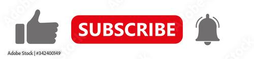 Like, subscription, notification Obraz na płótnie
