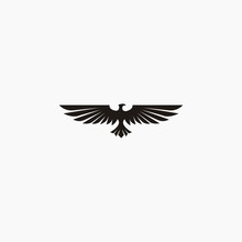 Eagle With Wings Vector