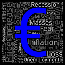Word Field On Inflation With Currency Symbol EURO