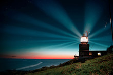 Kullaberg Lighthouse At Night In Sweden