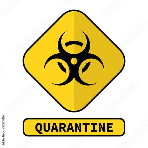 The Biohazard or biological threat alert icon Wallpaper Mural