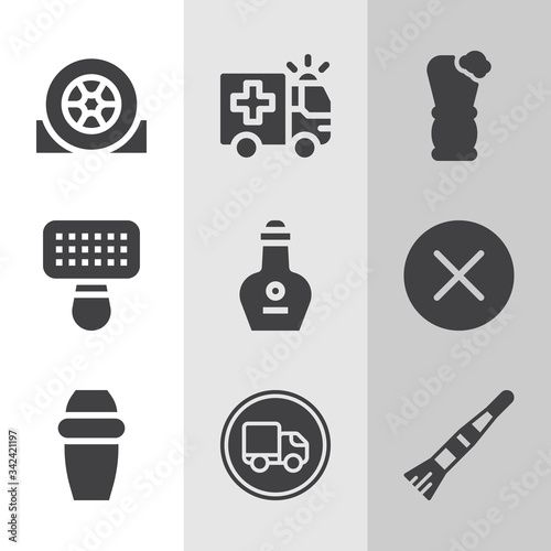 Simple collection of avant related filled icons. Canvas Print