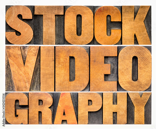 Valokuva stock videography word abstract in vintage wood type