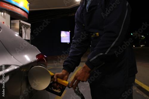 fuel station Canvas Print