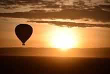 Silhouette Of Hot Air Balloon ...