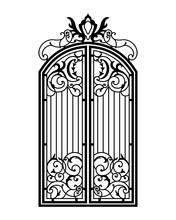 Closed Forged Ornate Gate.