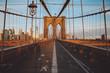 Road Marking And Arrow Symbols On Brooklyn Bridge In City
