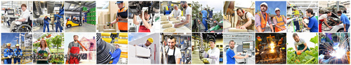 Photo Berufe in der Industrie und Handwerk - Arbeiter am Arbeitsplatz // Professions i