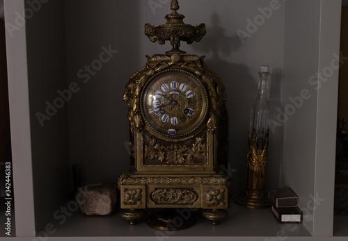 Reloj antiguo de bronce Canvas Print