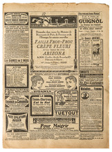 Old Newspaper Page Vintage Advertising Used Paper Background