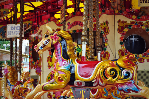 merry go round carousel Canvas-taulu