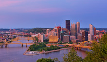 Pittsburgh Skyline Showing Dow...