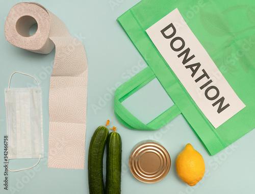 donation products, coronavirus, assistance, volunteering, social assistance Canvas Print