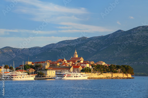 Fototapeta Korcula old town in early morning light, Croatia