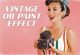 Vintage Paint Style Advertising Effect Mockup - 342475313