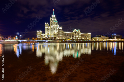 One of seven famous residential heights built in the style of Stalin ampere Canvas Print