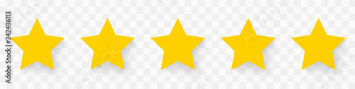 5 gold stars quality rating icon Wallpaper Mural