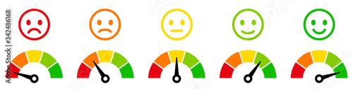 Fototapeta Speedometer, tachometer icon