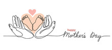 Happy Mothers Day Lettering. L...