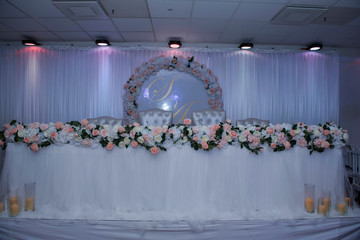 wedding table with different design