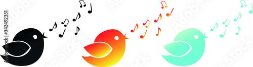 Singing birds Fototapet