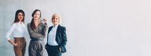 Female Professional Success. Ambition Aspiration Growth. Three Confident Business Women.