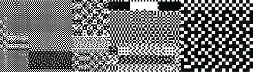 Glitch datamoshing camera effect Fototapet