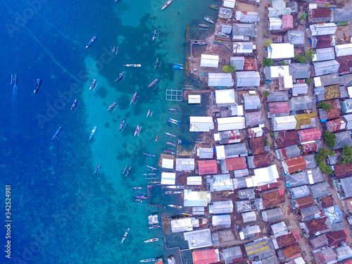 Photo Aerial of Bungin Island is the most populous island in the world