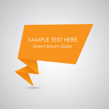 Origami Speech Bubble Vector I...