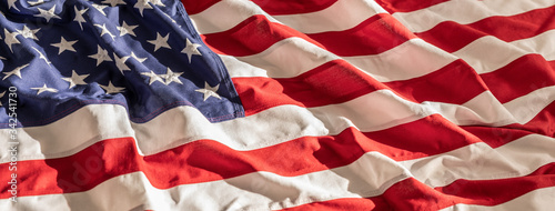 Obraz American flag for Memorial Day, 4th of July, Labour Day - fototapety do salonu
