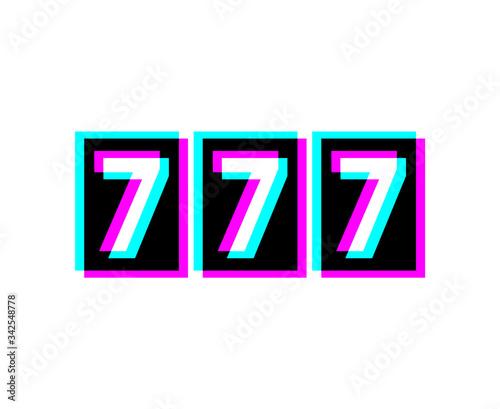 Fotografia Creative design of 777 bet icon