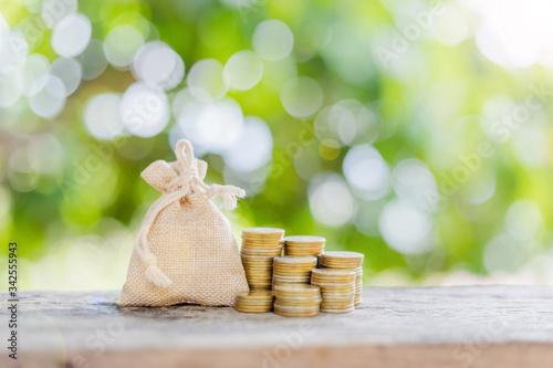 financial money saving concept Billede på lærred