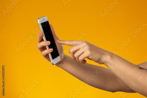 Obraz na plátně Mão Telefone